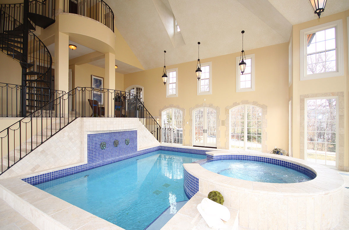 Indoor pool for Mansion plans with indoor pool