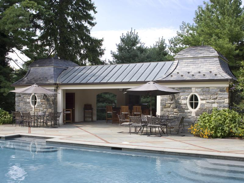 Slate Roofed Pool House Pricey Pads