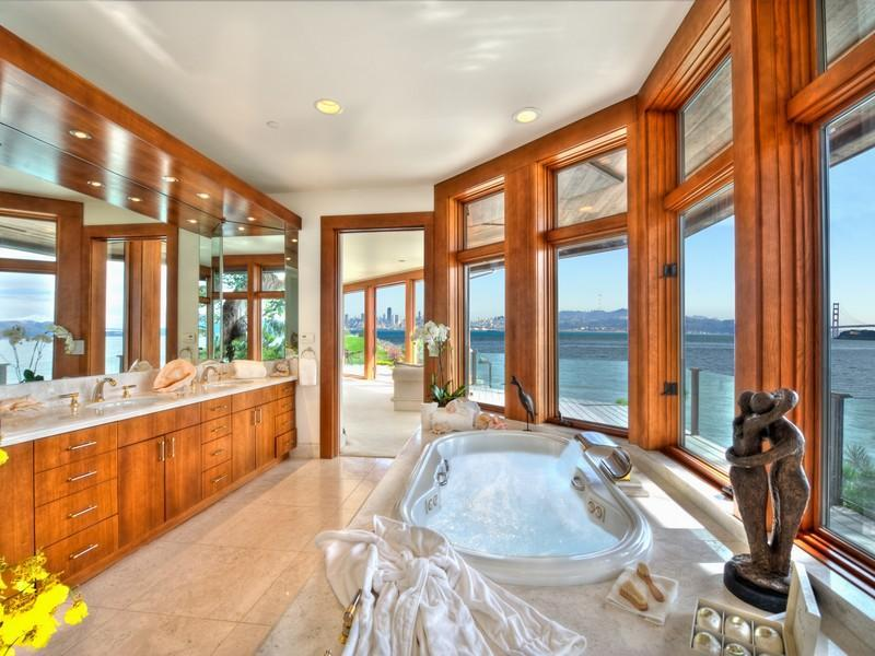 the ever changing living mural of sea life for your living room this  destination home sits. Best Bathroom Ever