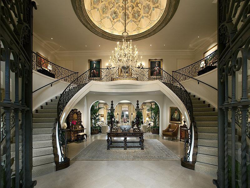 Mediterranean montecito 19 500 000 pricey pads for Luxury staircase