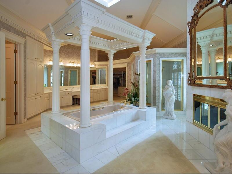 Bathroom Design Roman Style : Roman style jacuzzi tub fireplace pricey pads