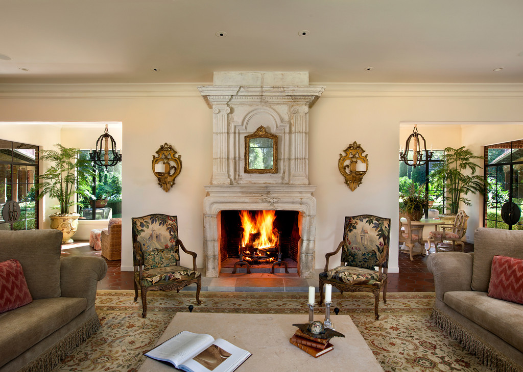 Traditional Living Room with Wall sconce & Cement fireplace Zillow Digs Zillow