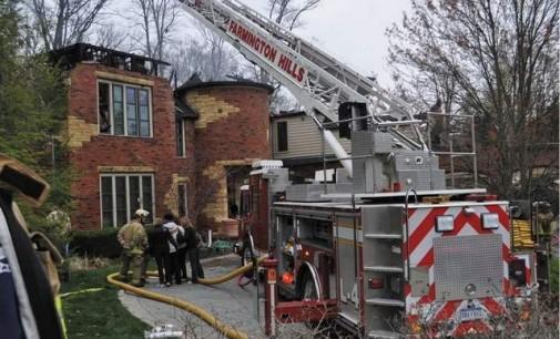 Man Saves Himself & Dog From Burning Mansion