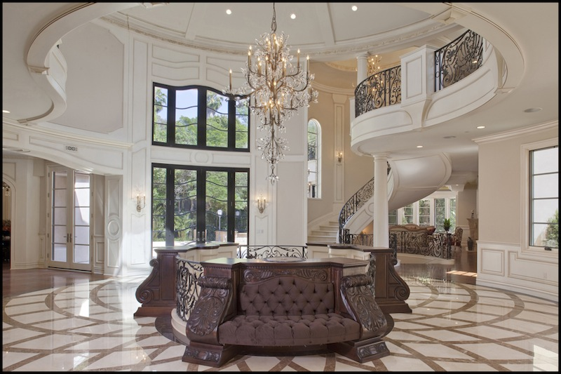 Beautiful Mansion Foyers : Bel air mansion with ferrari foyer pricey pads