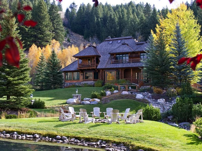 Eagle creek log estate 7 500 000 pricey pads for Beautiful homes and great estates pictures