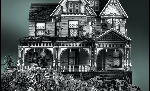 Victorian Mansions Made Entirely of LEGO