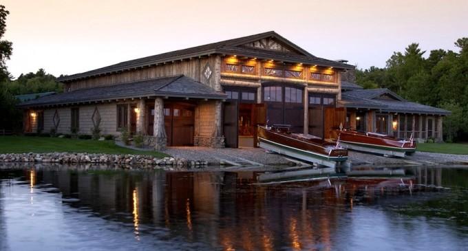 Spectacular Luxury Boathouse