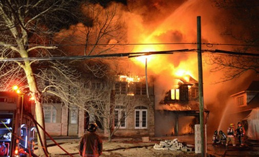 Burlington mansion destroyed by fire