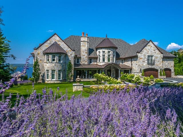 Gated lake magog estate 25 000 000 pricey pads for Photo de maison au canada