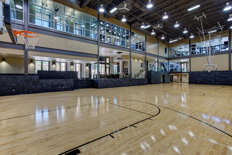 Exquisite sporting estate 12 000 000 pricey pads for Indoor half court basketball cost