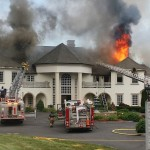 Massive Fire Destroys Connecticut Mansion (PHOTOS)