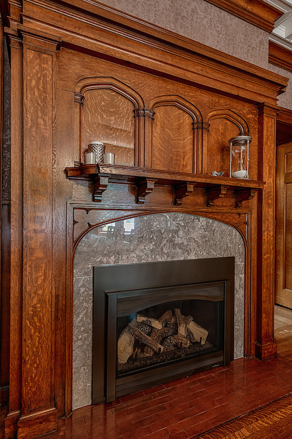 Webster park tudor revival 2 199 000 pricey pads for Tudor style fireplace