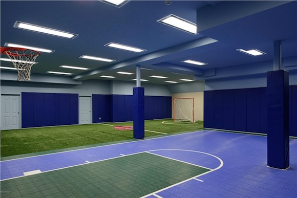 Mansion with indoor soccer field  Classy Greenwich Home Comes with Soccer Field in Basement (PHOTOS ...