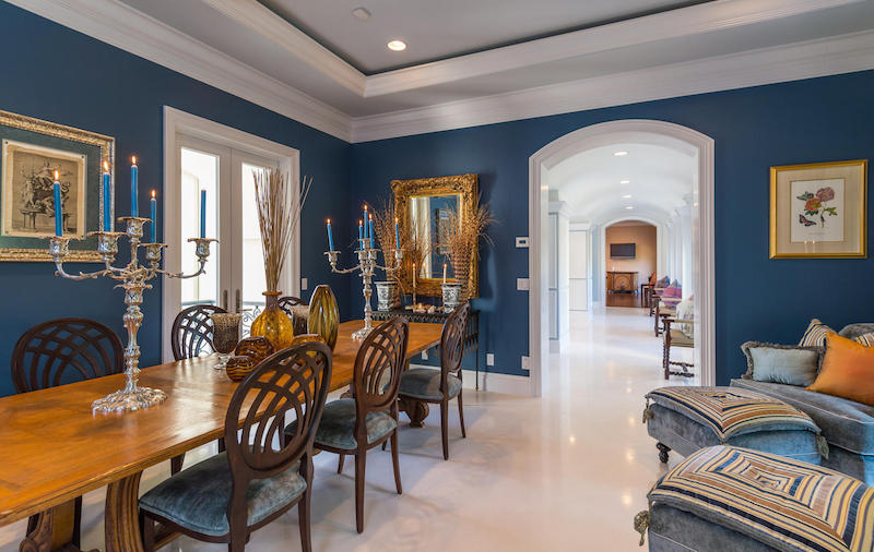 Sophisticated boca raton estate 5 900 000 pricey pads - Living room movie theater boca raton ...