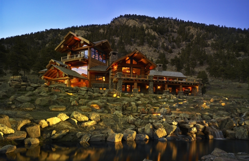 Impeccable log home 8 900 000 pricey pads for Loveland co cabin rentals
