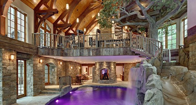 Lakefront Dream Home Lists With Indoor Treehouse! (PHOTOS) (OFF THE MARKET)