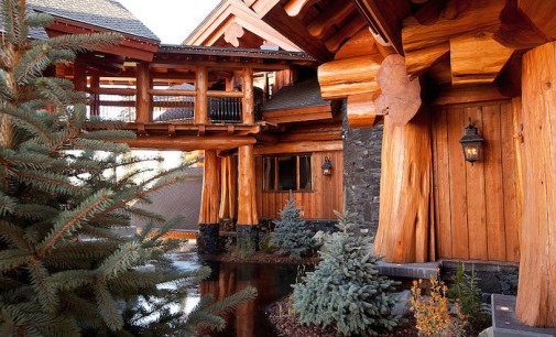 'Timber Kings' Log Mansion in Big White Yours For $6.8-Million (PHOTOS)