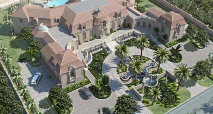 Unfinished 35,000 Sq. Ft. Palm Beach Mansion Lists For $84.5 Million (PHOTOS)