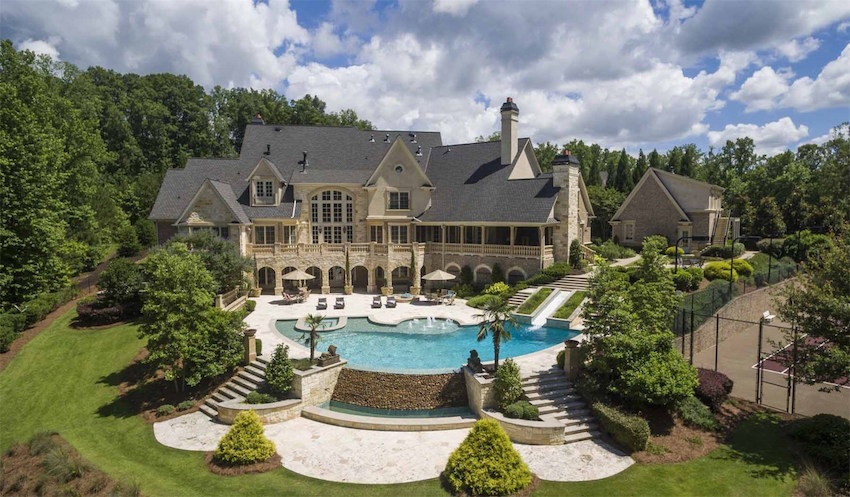 Pricey pads georgia for Mansion designer