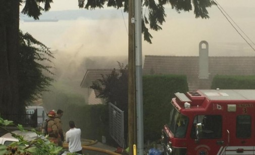 Multiple Oceanfront Homes in West Vancouver Go Up in Flames (PHOTOS)