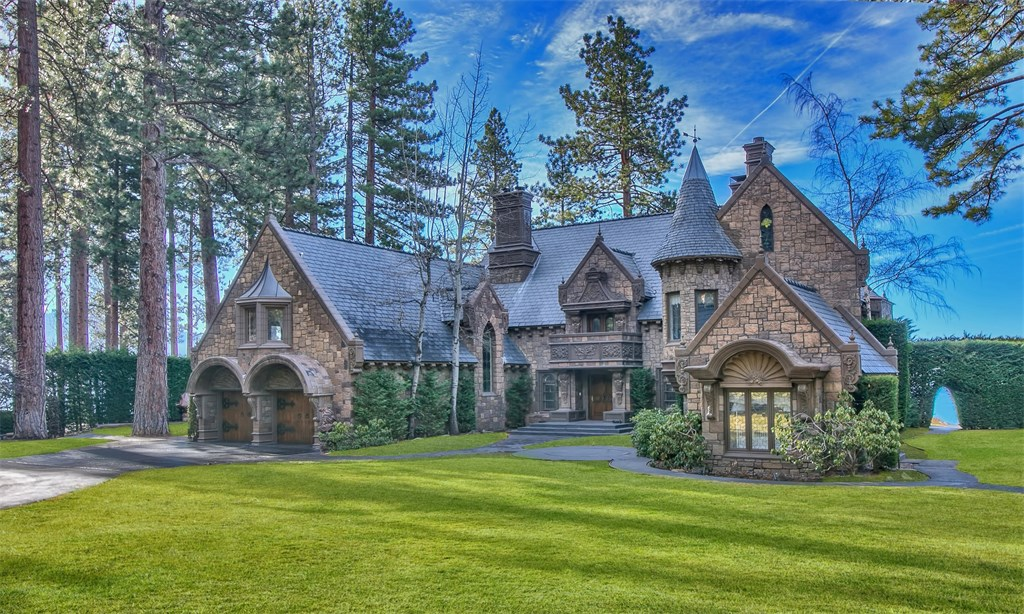 Nevada s castle on lake tahoe once priced for 26m for How much does a lake house cost