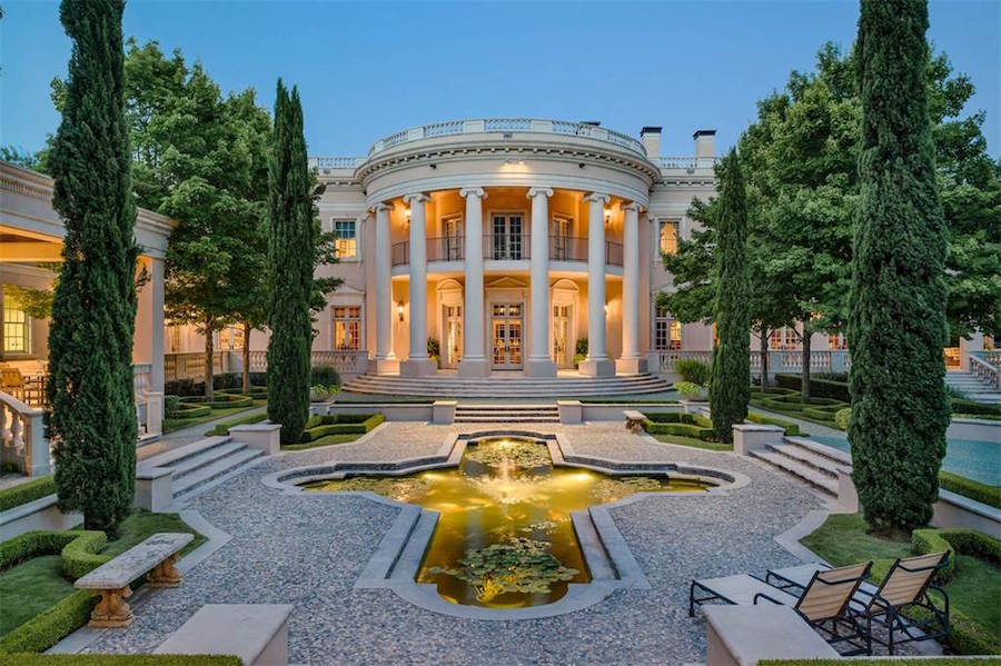 16 000 sq ft dallas white house reduced to 15 million for Buy house in dallas texas