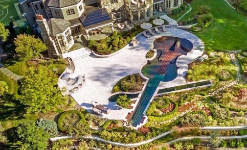 5.05-Acre Estate With 90-Foot Violin-Shaped Pool & Spa Lists For $9.975-Million (PHOTOS)