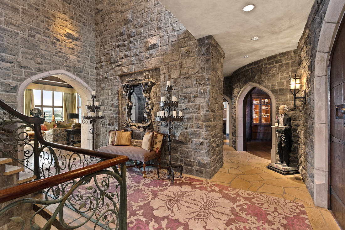 18 000 Sq Ft Camelot Castle Replica On Weatherby Lake In