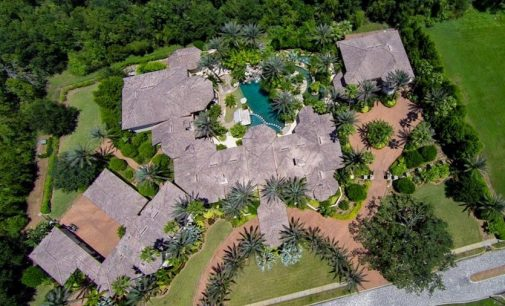 21,000 Sq. Ft. Florida Mansion with Indoor Piazza, Commercial Theatre, & 6,200 Sq. Ft. Guest House Reduced to $9.85M (PHOTOS)