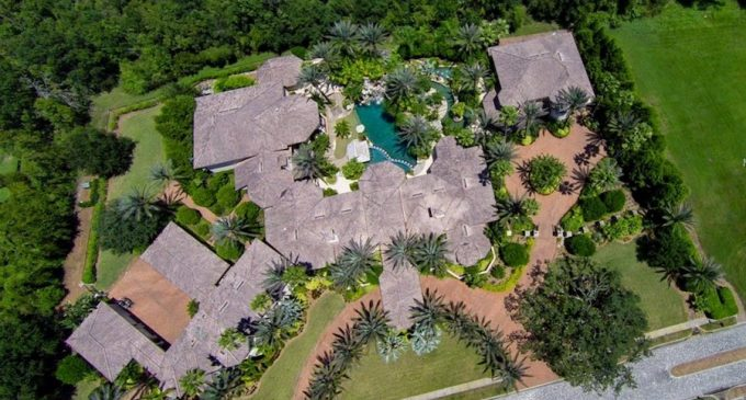 21,000 Sq. Ft. Florida Mansion with Indoor Piazza, Commercial Theatre, & 6,200 Sq. Ft. Guest House Reduced to $10.5M (PHOTOS & VIDEO)