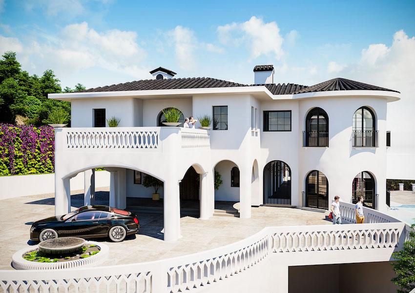 40 000 Sq Ft 8 Bed 21 Bath Spanish Villa Under