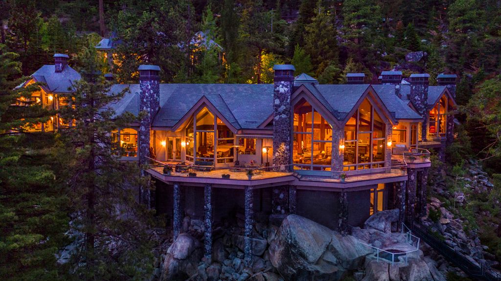 16 000 Sq Ft Nevada Masterpiece With 525 On Lake Tahoe