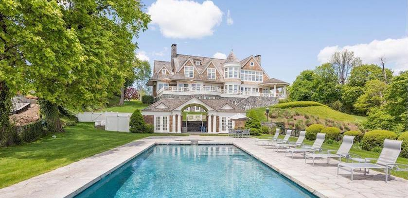 Shope Reno Wharton Masterpiece with 1,110′ of Waterfront Reduced to $14.9M in Rye, New York (PHOTOS)