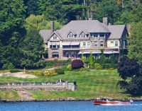 Own this c.1895 Lakefront Tudor Revival Manor 'Wikiosco' for $12.9M, Prev. $17.9M (PHOTOS)