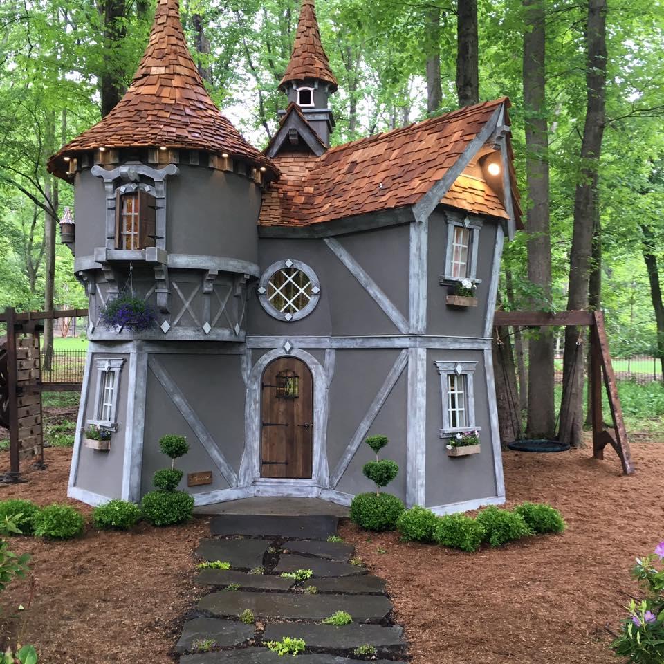 Meet charmed playhouses canada s premier custom playhouse for Hobbit style playhouse