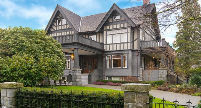 c.1912 Tudor Mansion Lists in Vancouver's Historic First Shaughnessy District for $20M (PHOTOS)