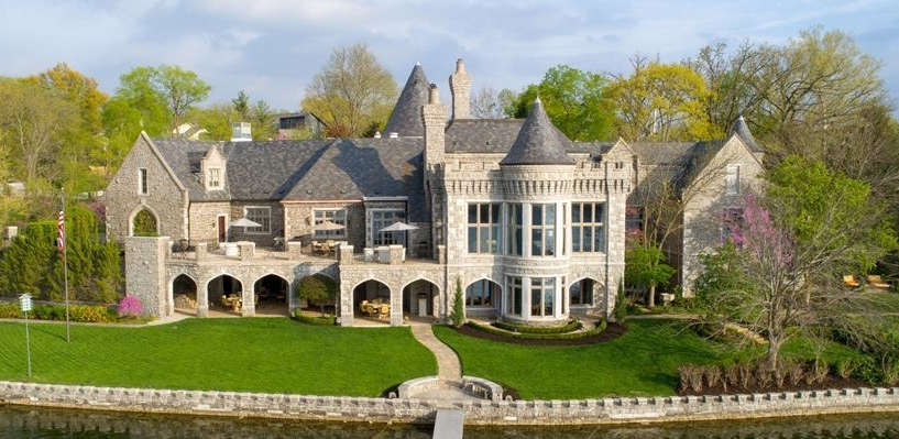 18,000 Sq. Ft. Stone Castle on Weatherby Lake in Kansas City, MO for $5.5M (PHOTOS)