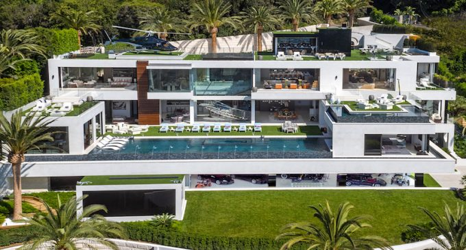 38,000 Sq. Ft. Bel Air, CA Mansion Includes $30M Car Collection & 40 Seat Dolby Cinema for $188M, Prev. $250M (PHOTOS & VIDEO)