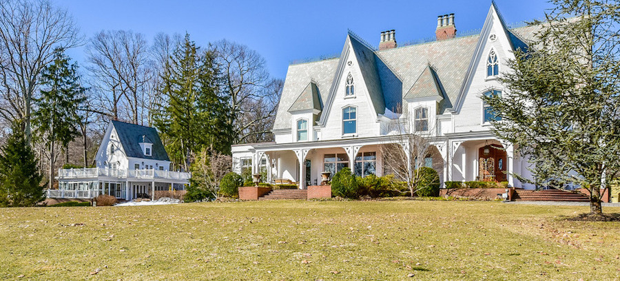 """""""The Cliffs"""" – A Historic c.1856 Mansion Designed by Henry G. Harrison for James W. Beekman in Mill Neck, NY for $16M (PHOTOS)"""