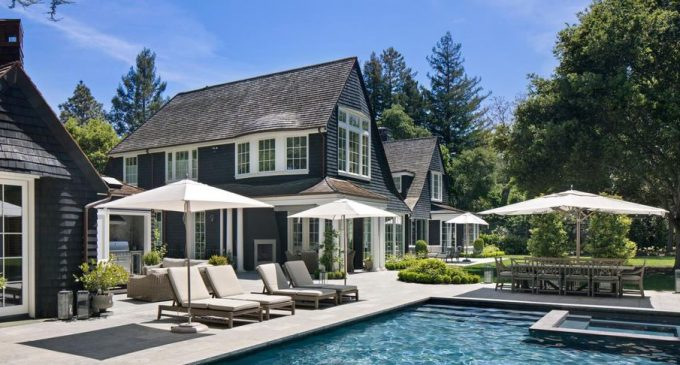 7,300 Sq. Ft. Nantucket Style Home by Markay Johnson Construction lists in Atherton, CA for $15.9M (PHOTOS)