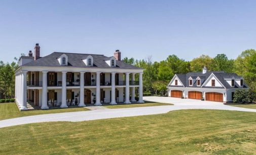 Fountain Inn, SC's 14,000 Sq. Ft. Jack Thacker Designed Magnolia Hall Plantation Lists for $4.5M (PHOTOS)