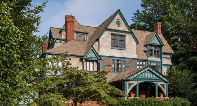 Newport, RI's Historic c.1877 Charles H. Baldwin House Hits the Market for the First Time in Over 70 Years (PHOTOS)