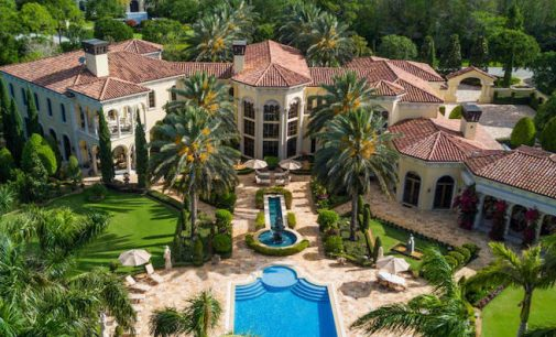 17,000 Sq. Ft. Mediterranean Mansion in The Bear's Club of Jupiter, FL Lists for $12.99M (PHOTOS & VIDEO)