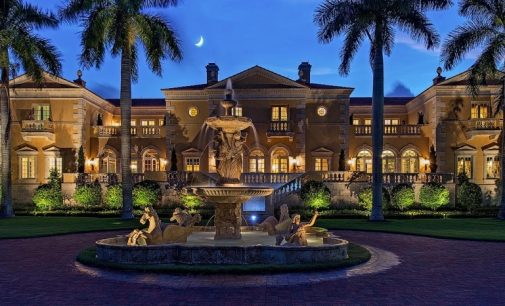 16,000 Sq. Ft. Naples, FL Mansion with 277′ of Sandy Beachfront Reduced to $49.5M, Prev. $65M (PHOTOS)