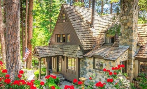 Your Fairytale Awaits at this c.1940 Lakefront Cottage on Lake Arrowhead, CA (PHOTOS)