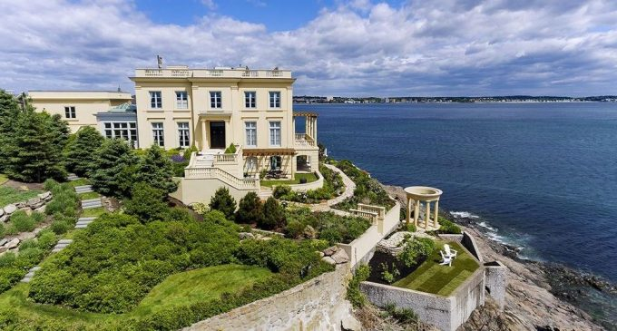 Cliffside Modern Replica of a French Villa in Nahant, MA Sells for $2.85M (PHOTOS)