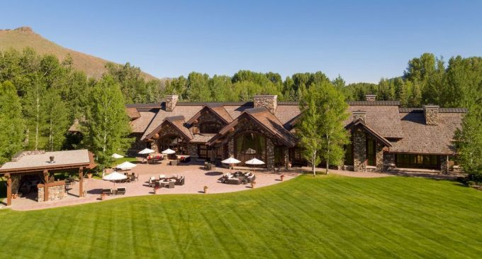 Sun Valley's Premier 15,000 Sq. Ft. Western Log & Stone Home Reduced to $19.5M, Prev. $25M (PHOTOS)