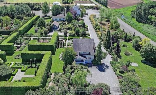 Historic 50 Acre Garden Oasis with 5,700 Sq. Ft. Rose Garden in Mount Vernon, WA Reduced to $1.98M, Prev. $2.68M (PHOTOS)