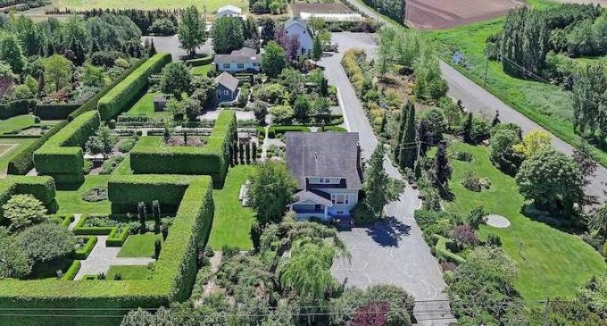 Historic 50 Acre Garden Oasis with 5,700 Sq. Ft. Rose Garden in Mount Vernon, WA Reduced to $2.28M, Prev. $2.68M (PHOTOS)