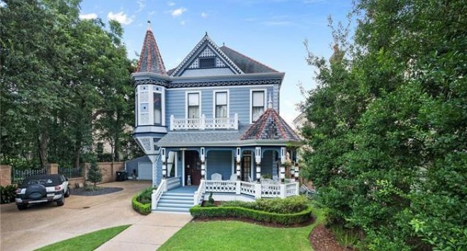 Historic c.1889 Blue Lady by Architect Charles Lambert in New Orleans, LA for $3.5M (PHOTOS)